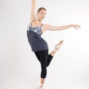 Lululemon Rehearsal Tank Top Dance 2 Grey White
